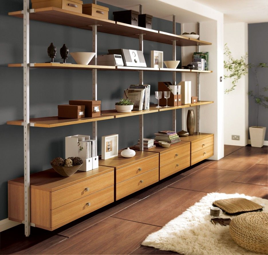Shelving systems for living rooms